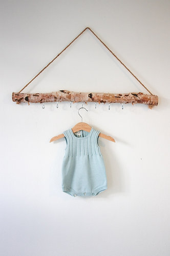 Light green Wool baby romper/ Fofo va bebe lã