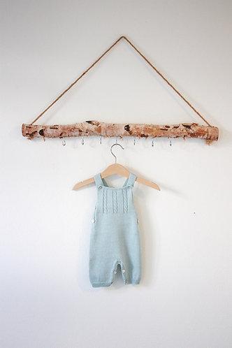 light green Baby Wool overalls/Jardineiras lã bebe va