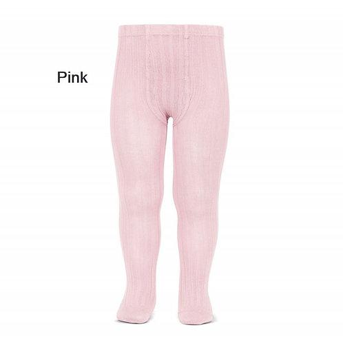 Pink Rib tights