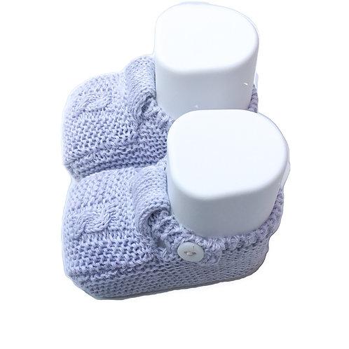 Grey cotton shoes/ Botas de bebe de algodão cinzento