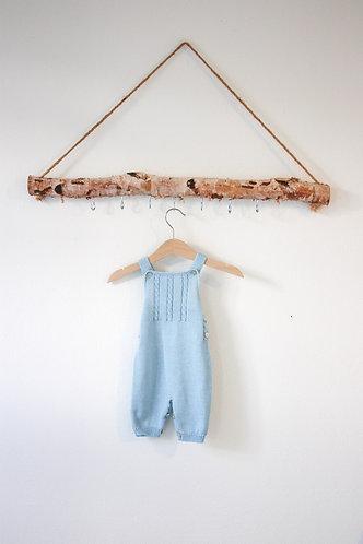 Blue Baby Wool overalls/Jardineiras lã bebe ac