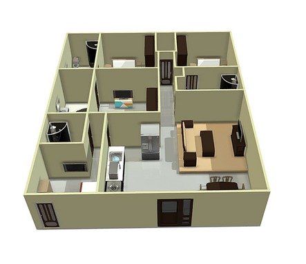 3Bhk + Servant Quarter