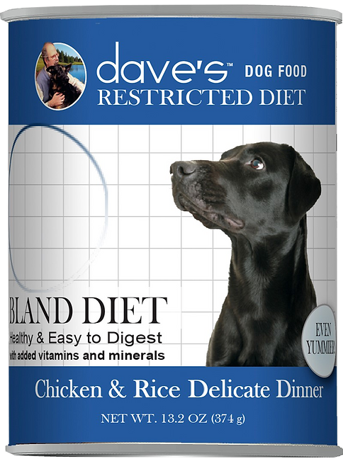 Restricted Diet Bland – Chicken and Rice Canned Dog Food