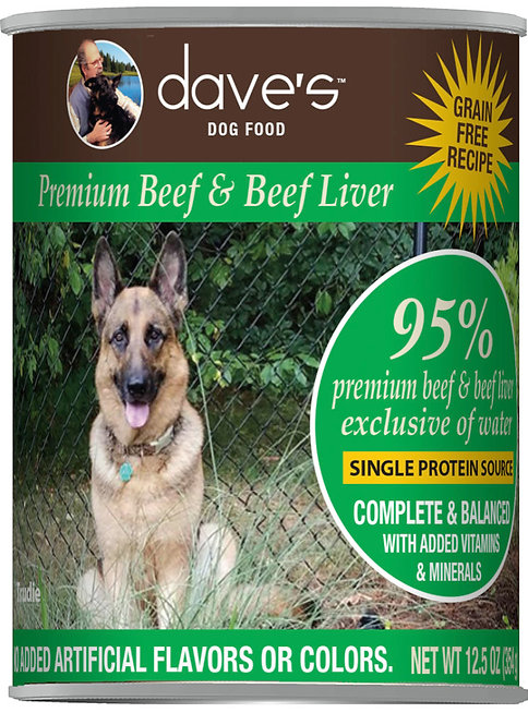 Dave's 95% Premium Meats™ Canned Dog Food—Beef and Beef Liver