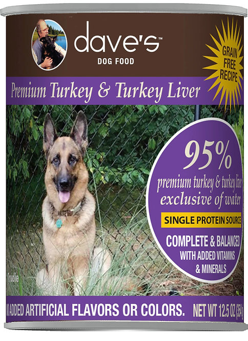 Dave's 95% Premium Meats™ Canned Dog Food—Turkey & Turkey Liver