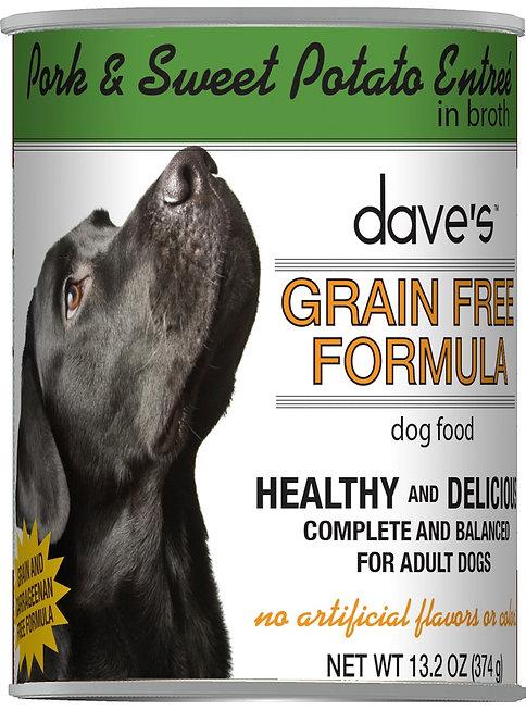 Dave's Grain Free Pork & Sweet Potato Entrée Canned Dog Food