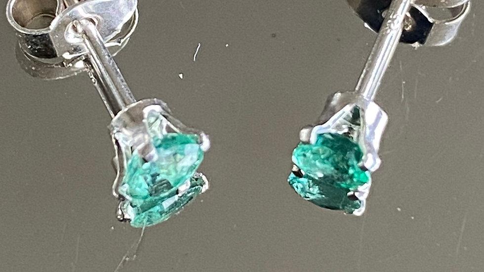 Delicate, handmade sterling silver stud earrings