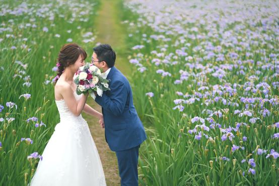 沖縄絶景ウェディング(オクラレルカの花畑)