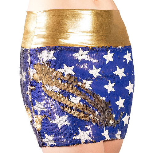 Super Hero Stars Mini Skirt