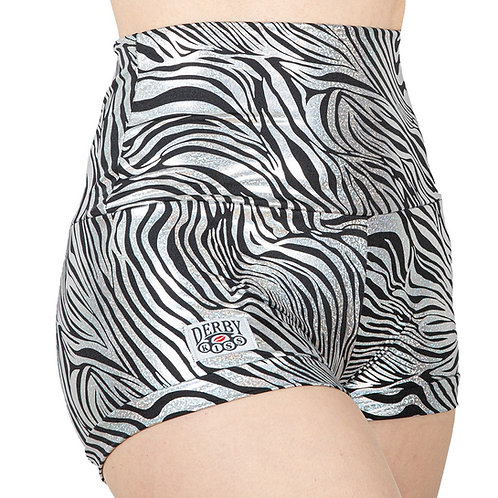 Holographic Zebra Shorts