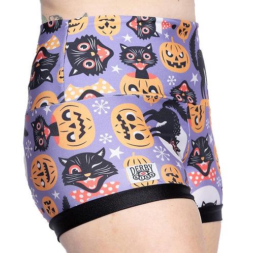 Black Cat Halloween Shorts