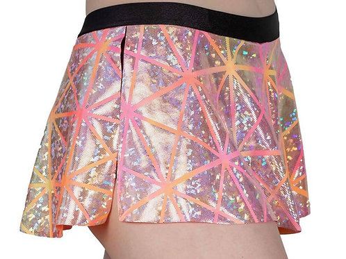 Pink/Orange Holographic Skort