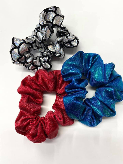 Holographic 3 pack Scrunchies