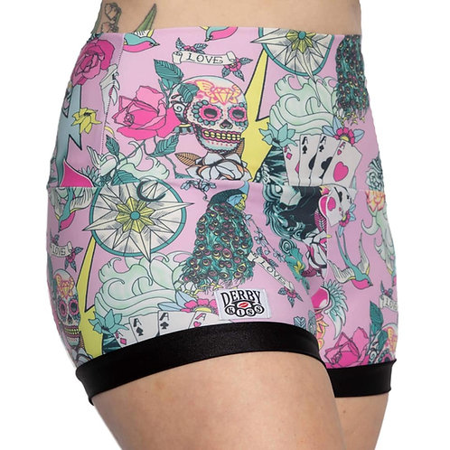 Pink Tattoo Shorts