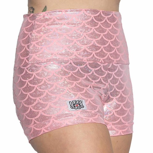 Bubblegum Pink Scale Shorts