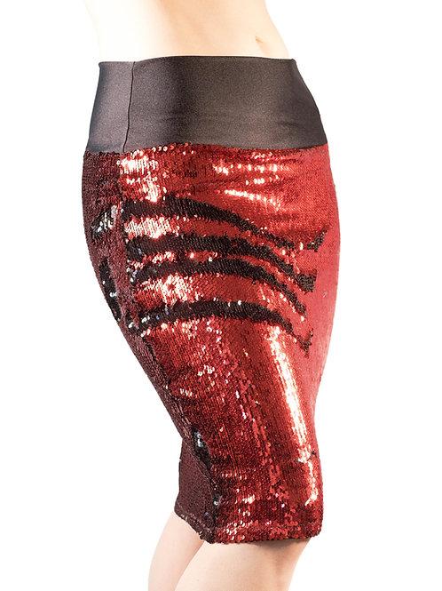 Red/Black Pencil Skirt