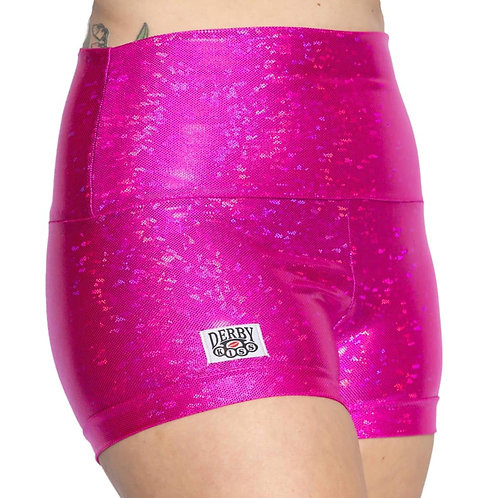 Holographic Hot Pink Shorts