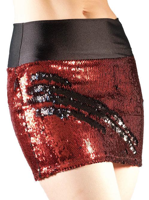 Red/Black Mini Skirt