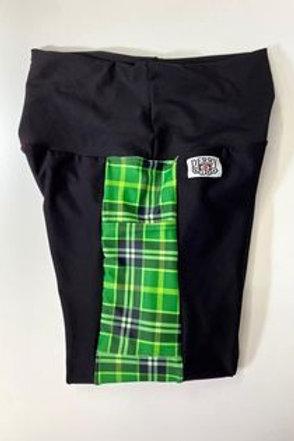 Green Plaid Biker/Custom Length Shorts