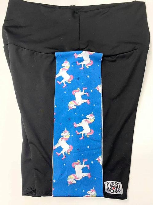 Unicorn on Skates Biker Shorts