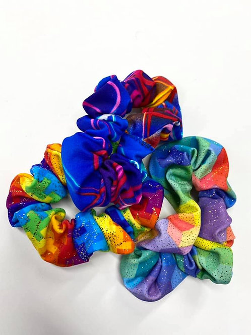Rainbow 3 pack Scrunchies