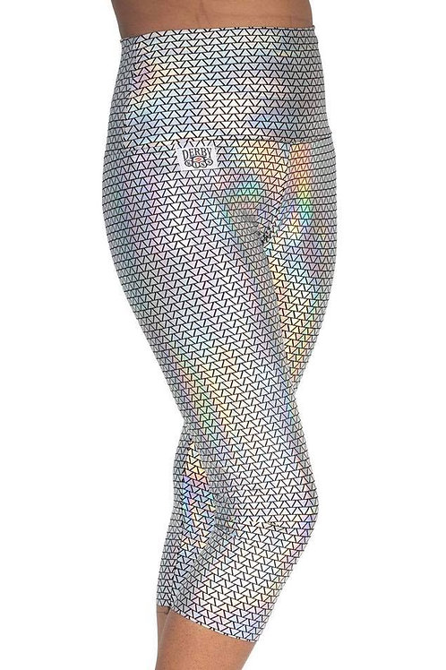 Black/Silver Triangle Holographic Capris