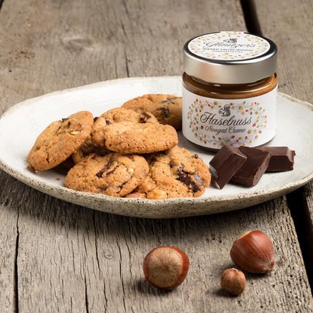 Haselnuss Schokocookies