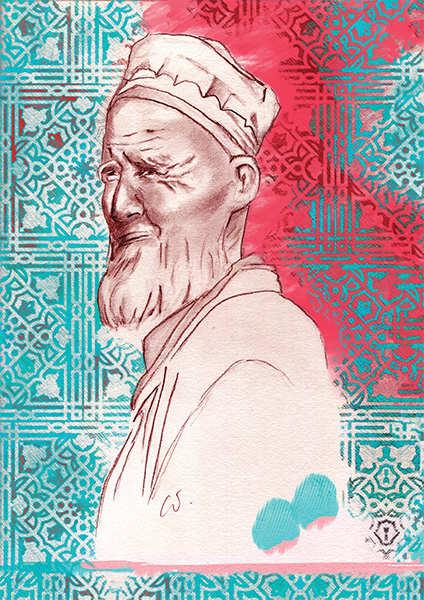 Vieux sage ouzbek