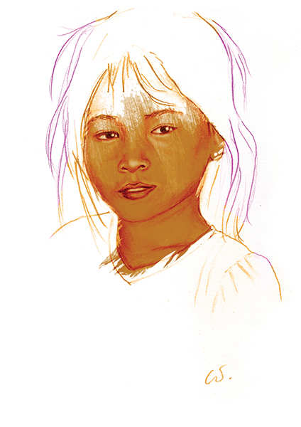 Jeune fille du Cambodge
