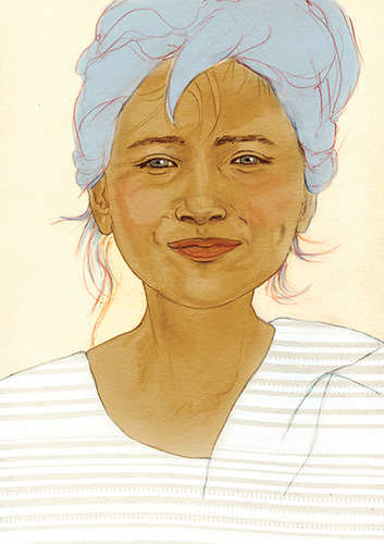 Sourire du Yémen bleu
