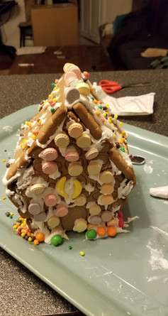 Gingerbread house with M