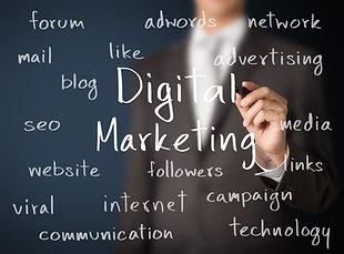 Website Design Digital marketing word cloud - website campaign management social media seo sem