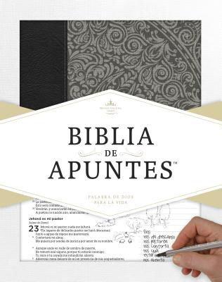 Biblia de Apuntes Tela Impresa Gris.