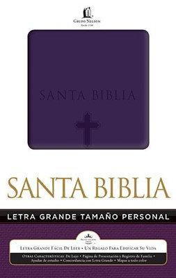 Biblia Nelson Letra Grande Tamaño Personal Morado