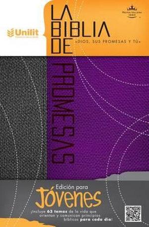 Biblia de Promesas Piel Especial Gris-Purpura