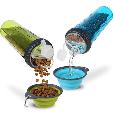 Snack pot duo- holds snacks and water.