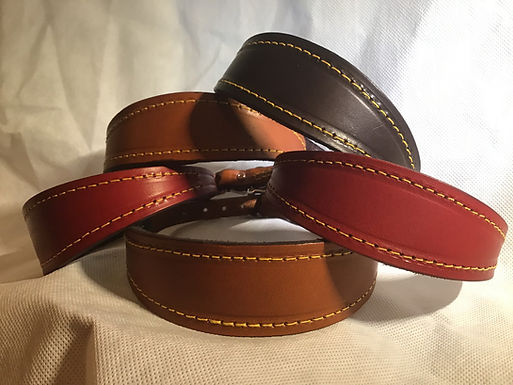 Whippet & Puppy padded leather collar