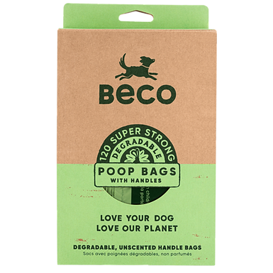 Degradable poo bags with handles (120)