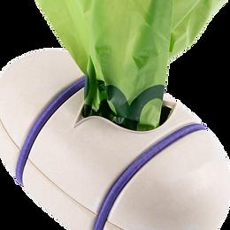 Bamboo poo bag holder
