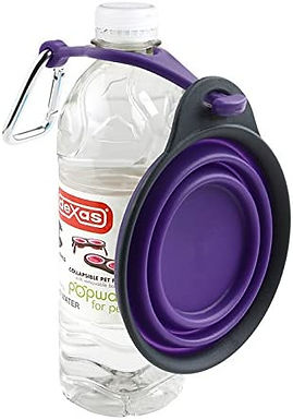 Collapsible Travel Dish Water Bottle Holder