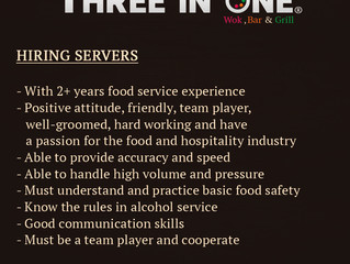 Hiring Servers