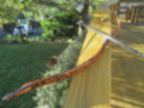 Tiger Stripe Long Bow