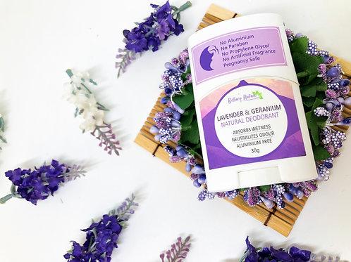 Lavender & Geranium Natural Deodorant 30g