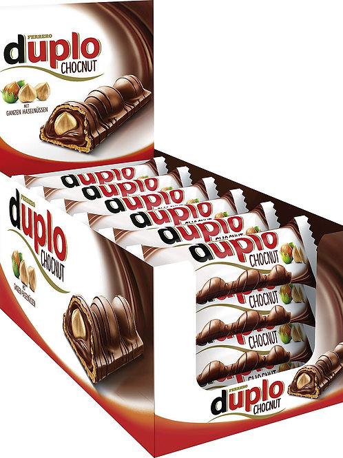 Ferrero Duplo Chocolate and Hazelnut Bars (24 Packs of 26 Gr)