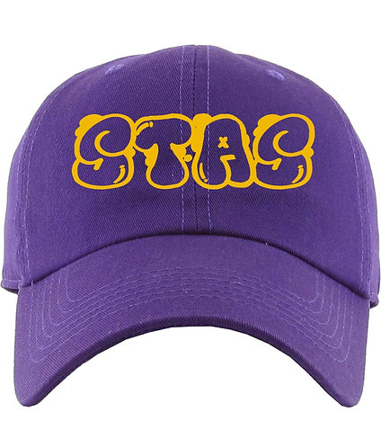 Purple and gold dad hat