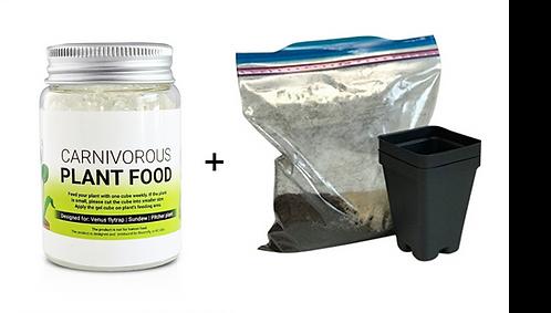 Carnivorous Plant Food + Soil Kit, Carnivorous Bundle, Save 2$
