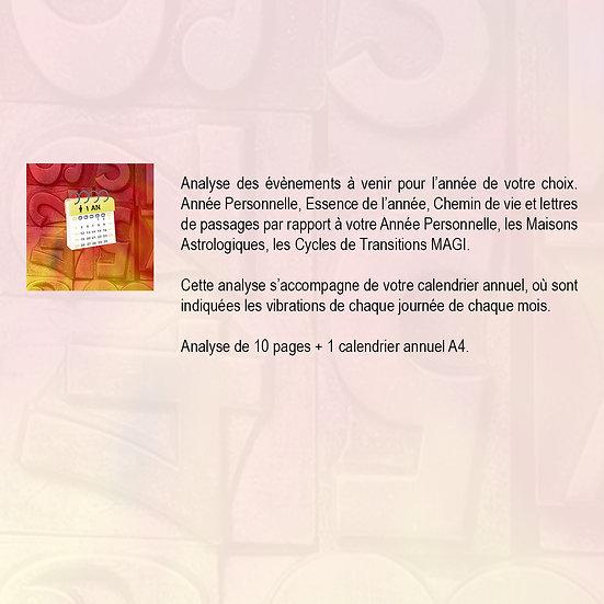 CALENDRIER - 1 AN + ÉTUDE ANNUELLE