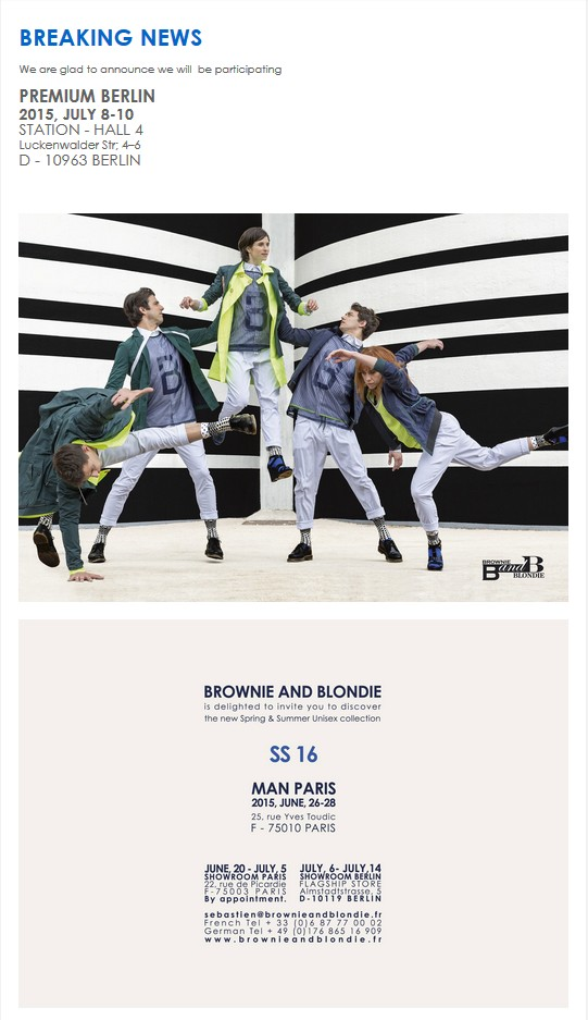 Brownie and Blondie SS16 Invite