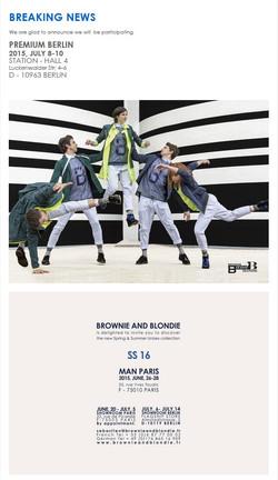 Brownie and Blondie SS16 Invite