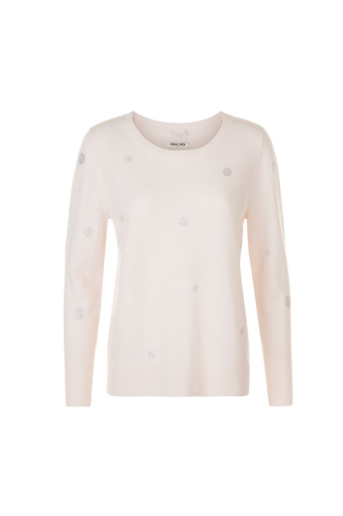 PULL COL ROND AVEC STRASS PATRYK